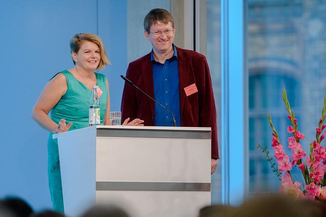 Ines Kappert, Henning von Bargen (Leitung GWI) Foto: stephan-roehl.de