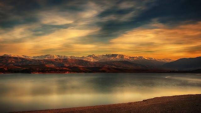 Sunset.atlas@Marrakech.lake