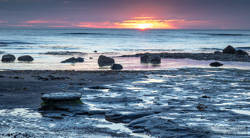 element rock sea sunrise