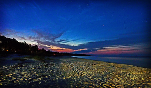 sunrise beach sand stars clouds shore ocean sea florida carabellebeach outdoors