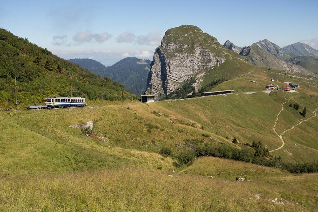 MVR Bhe 4/8 304 entre Jaman et la Perche au Rochers-de-Naye