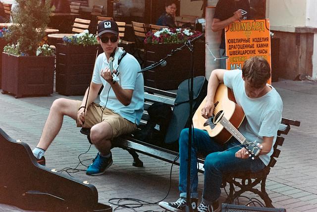 Street notes: «Music of Old Arbat»