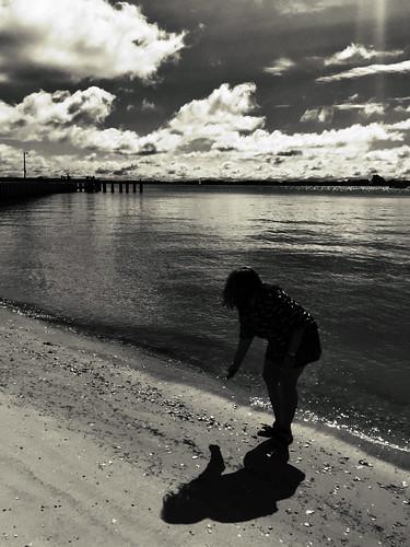 clouds shadow girl woman beach cyndi girlfriend