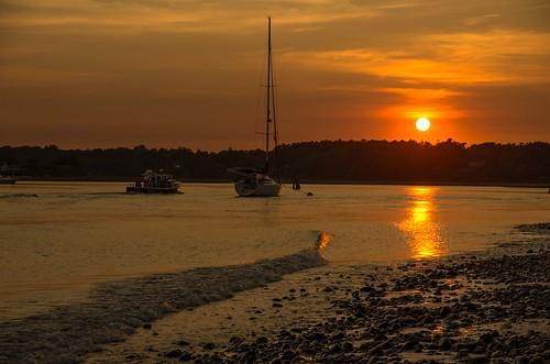 drakesisland webhannetriver summer sunset wells maine wellsharbor