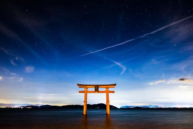 under the stars (Shirahige shrine, Shiga)