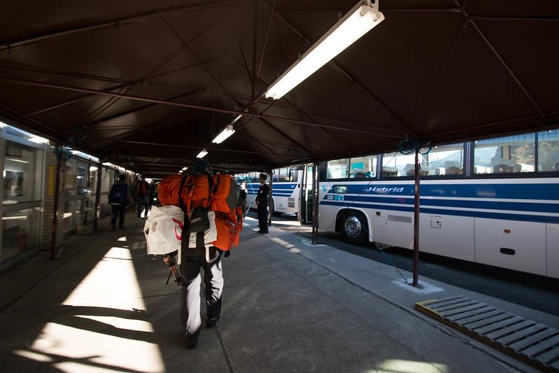 立山黒部アルペンルートのバス移動