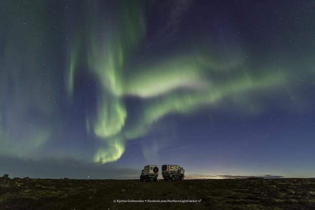 Austrians trying to sleep under Icelandic Aurora