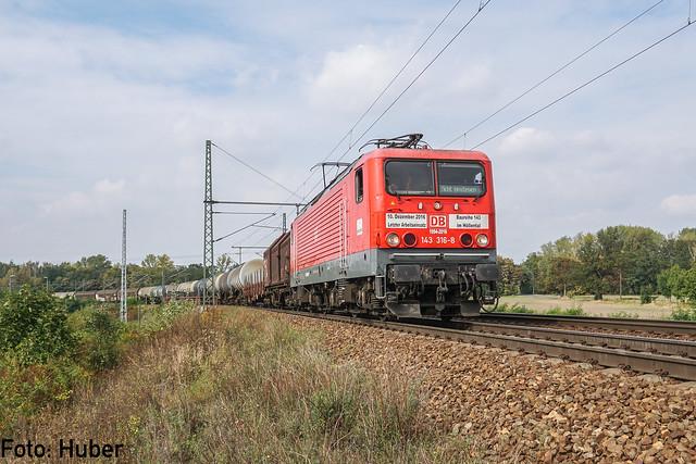 143 316 DB Regio / DB Cargo | Leipzig-Thekla | September 2017