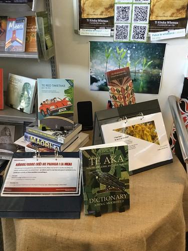 Te wiki o te reo Māori display at Parklands Library