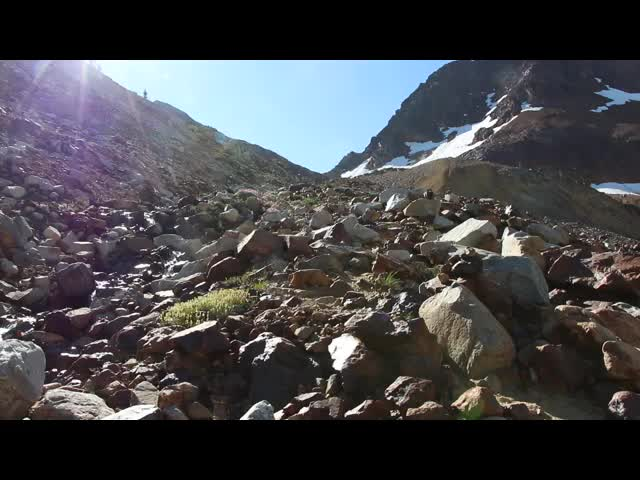 4691 Video looking up at Spider Gap following its outlet stream toward the Upper Lyman Lakes
