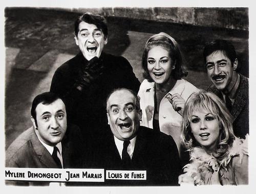 Mylène Demongeot, Louis de Funès, Jean Marais a.o. in Fantômas contre Scotland Yard (1967)
