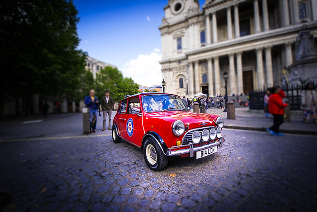Cool Mini Cooper near St.Paul's Cathedral - London - England