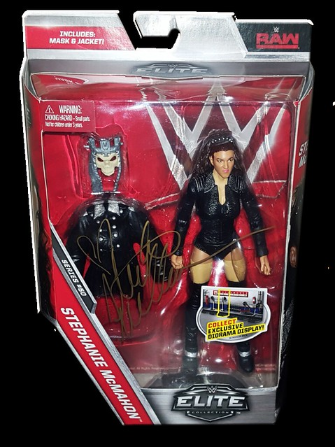 Stephanie McMahon Autographed Mattel WWE ELITE COLLECTION Series 50 Figure