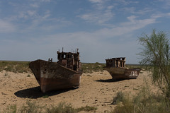 Monaq - boats left literally high and dry.