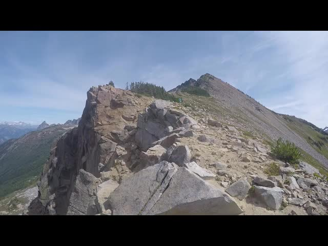 3458 GoPro video panorama from the southwest ridge of Cloudy Peak