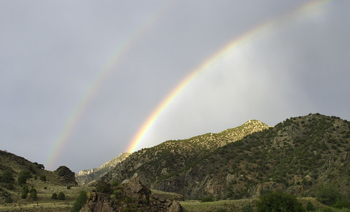 rainbow mountains sky cloudy cloudsstormssunsetssunrises