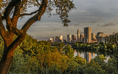 austin texas dawn downtown sunrise ladybirdlake summer