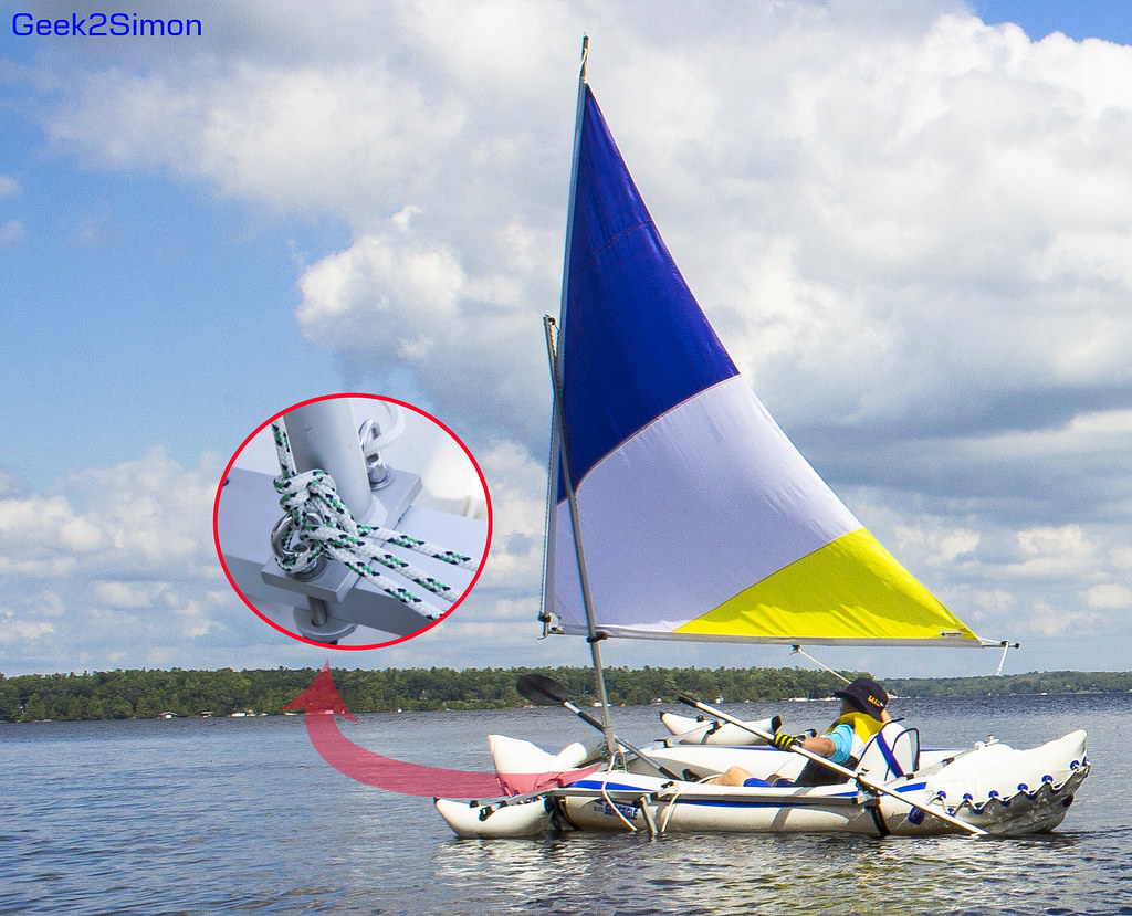 Rig a Kayak Sailing   Rigging steps blogged here: geek2 info