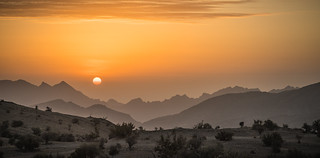 Sunrise on Jebel Akhdar, Oman   by Robert Haandrikman