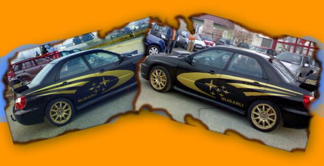WRC gyári dekoráció!