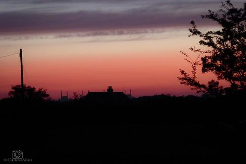 rooftops sunrise trees sky annan scotland dumfriesandgalloway panasoniclumixtz60 ©davidliddle ©camraman