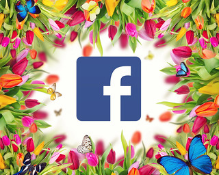 Facebook Logo Surrounded By Flowers | by mikemacmarketing