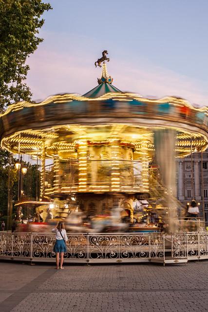 Sunset Carousel, Madrid