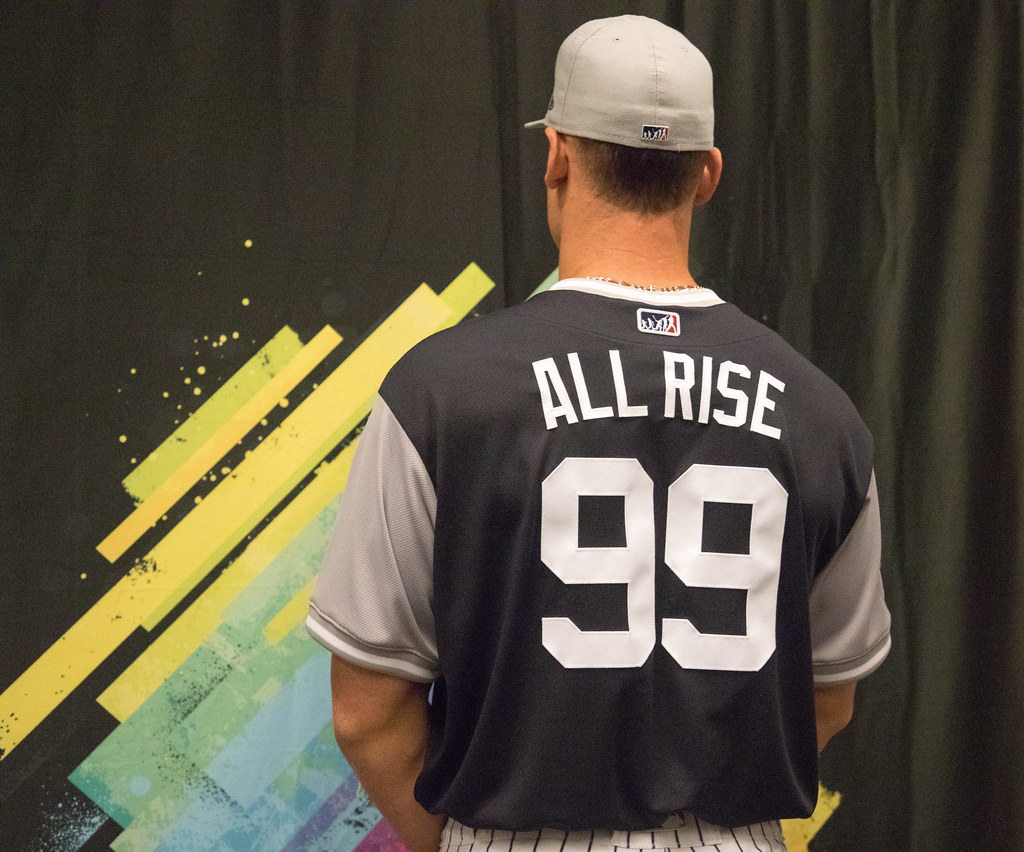 buy online 3ad47 9ac46 All Rise! Aaron Judge shows off his #PlayersWeekend jersey ...