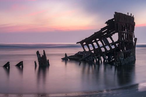 shipwreck peteriredale oregon coast reflections abandoned derelict