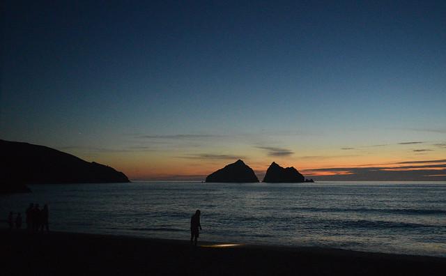 Holywell Bay  after dark 2
