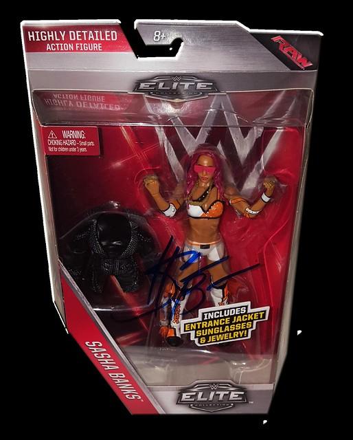 Sasha Banks Autographed Mattel WWE ELITE COLLECTION Series 44 Figure