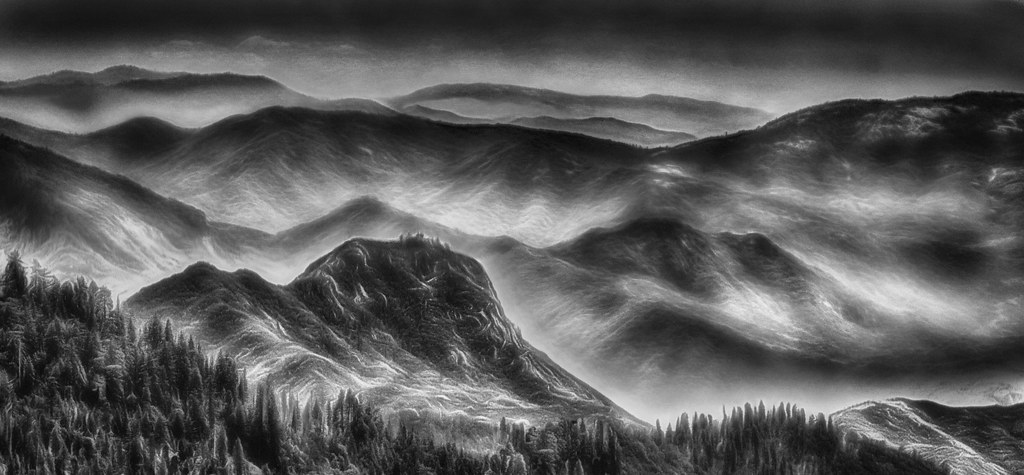 Misty Mountains | Created for the World Without Color compet… | D'Arcy  Guerin Gue | Flickr