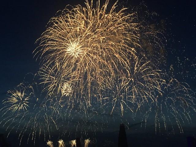 Scheveningen summer beach fireworks (Netherlands 2017)