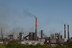 Non-ferrous metallurgy in the city of Novotroitsk is full of a variety of colors