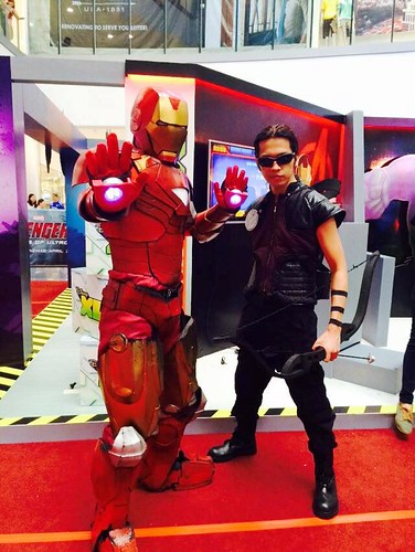Iron Man and Hawkeye at Avengers Experience
