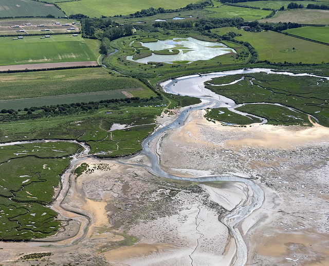 Freshes Creek between Morston and Stiffkey in North Norfolk - aerial image