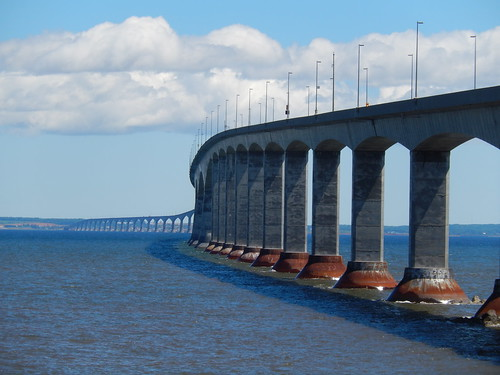 Confederation Bridge vanaf New Brunswick
