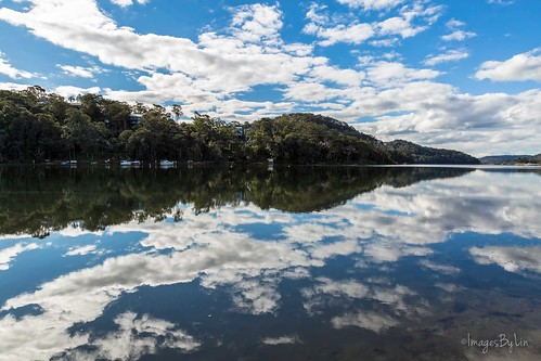 trees sky water clouds contrast canon reflections landscape boats mirrorimage centralcoast breathtaking correabay