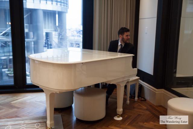 Pianist performing