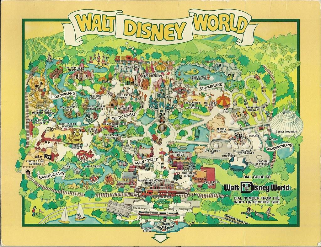 1980 Walt Disney World Dial Map | In August 1983 we visited ... Disney Worldmap on