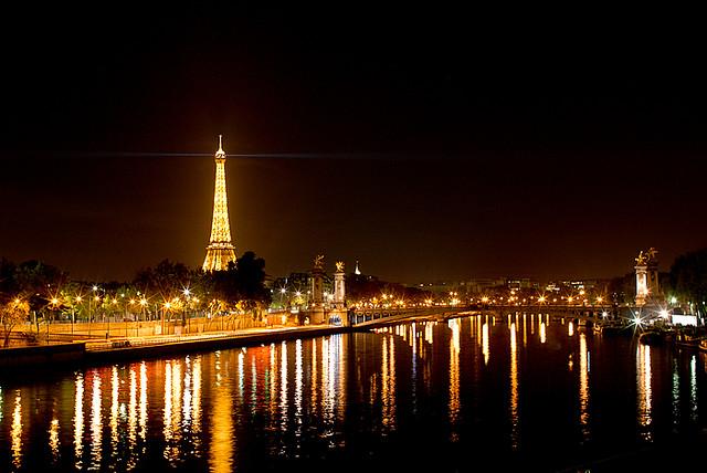 Pemandangan Kota Paris Pada Malam Hari Via Blogger Bit Ly Flickr