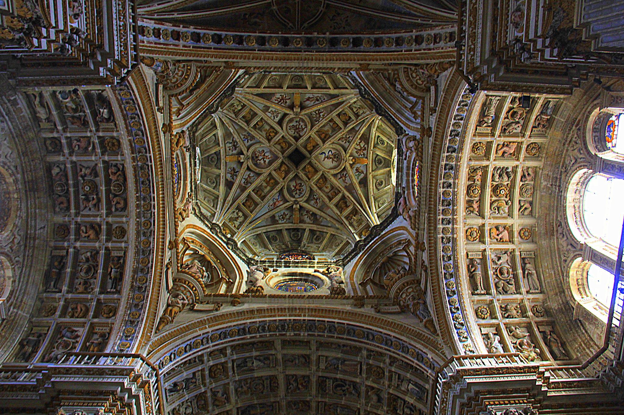 ceiling of San Jeronimo Catedral in Granada