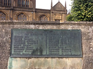 Memorial to the civilian casualties of the bombing of Sherborne on 30 September 1940 | by sherborneschoolarchives