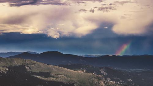 sony alpha 99 alpha99 a99 tamron lens rainbow clouds mount evans colorado clear creek rain landscape