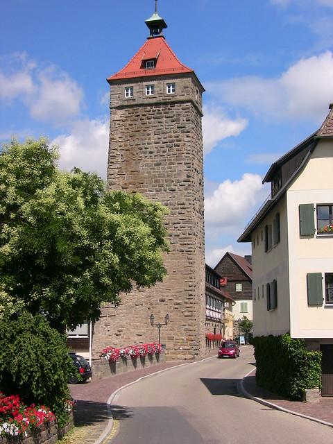 GERMANY, WALDENBURG/ Hohenlohe, Hochwächterturm,  75416/8866