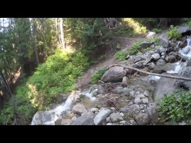 1859 Video of us crossing a branch of Small Creek on our way to Middle Ridge on the Buck Creek Trail