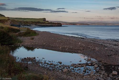 cliffs coast kilvebeach somerset sunrise