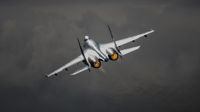Ukrainian Air Force SU-27 - 58