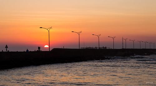sunset sky harbor miaoli taiwan 台灣 苗栗 竹南 龍鳳漁港 夕陽 天空