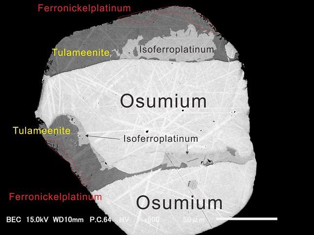 白金族元素含有鉱物